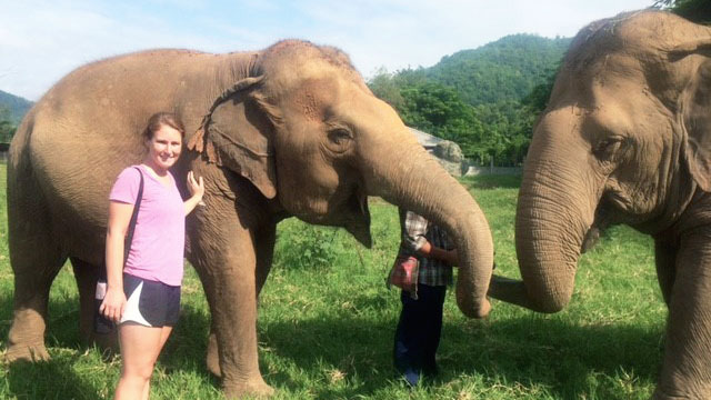 Nicole Killigrew, an animal science student, traveled to Thailand with Loop Abroad, an organization focused on global issues and possible careers in conservation.