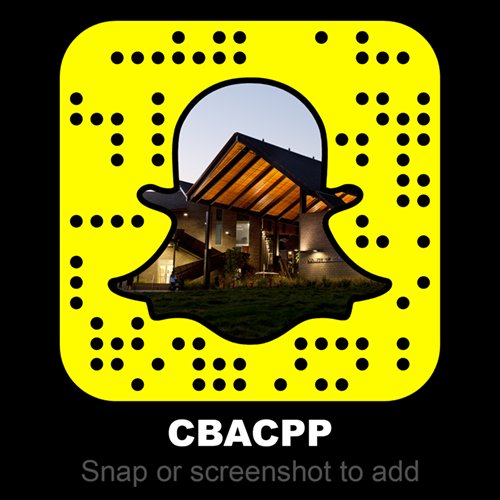 College of Business Administration Snapchat Account Logo