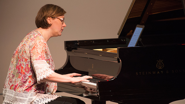 "Music Professor Nadia Shpachenko's album ""Woman at the New Piano"" has been nominated for a Grammy Award."