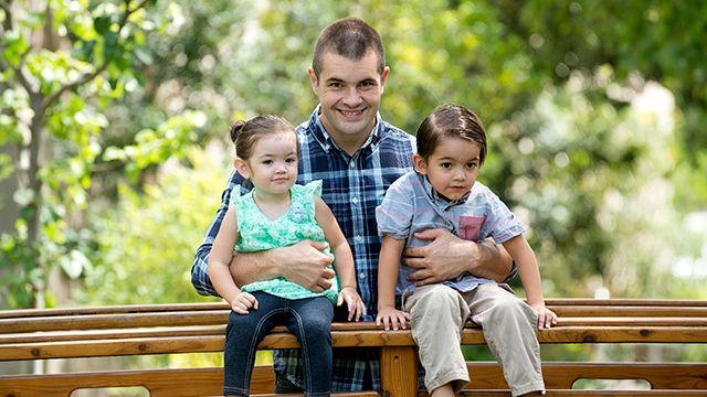 Tyler Sullivan, a business student and single father of two, recently received a California State University Trustees' Award for Outstanding Achievement.