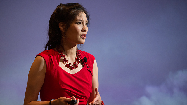Sheryl WuDunn speaks at the Bronco Student Center as part of the Kellogg Distinguished Public Lecture Series at Cal Poly Pomona October 22, 2015.