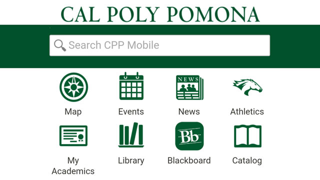 The CPP Mobile app recently relaunched with a class registration feature.