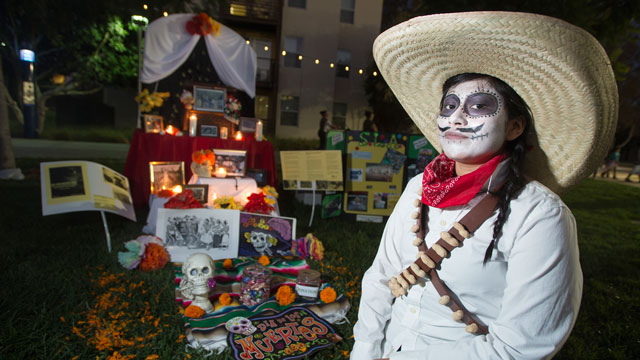 An altar, as seen at Cal Poly Pomona's annual Dia De Los Muertos celebration.