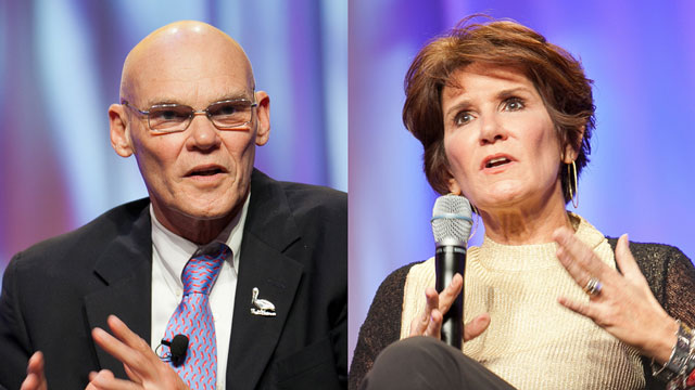 Veteran political consultant power couple James Carville and Mary Matalin will visit campus as part of the Kellogg Distinguished Public Lecture Series.  (image courtesy of Flickr user JD Lasica)