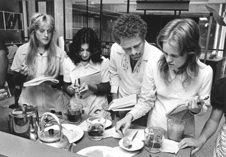 A cooking class in the 1970s