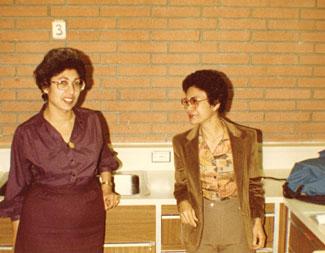 Professors Anahid Crecelius, left, and Nenita Cabacungan in 1980.