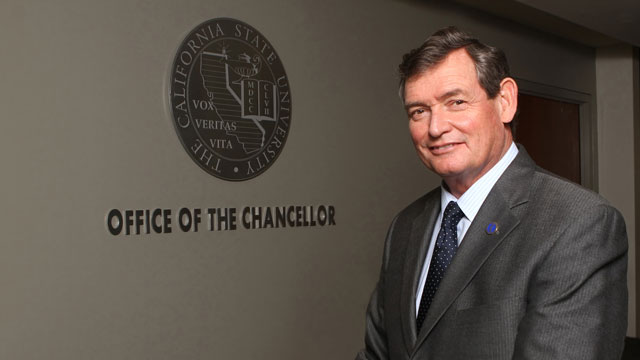 CSU Chancellor Timothy P. White will visit Cal Poly Pomona on Feb. 18.