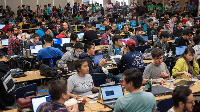 More than 500 technology enthusiasts participated in the 24-hour innovation challenge Hackpoly Feb. 6.