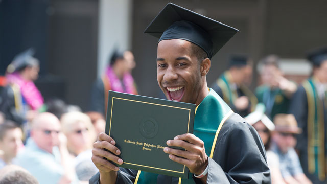 Cal Poly Pomona placed ninth best at improving the graduation rates of its black students in a study published by The Education Trust.