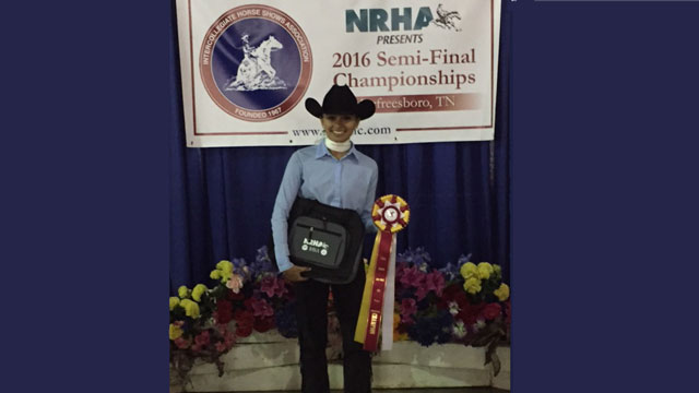 Cal Poly Pomona student Amelia Warner qualified for the Intercollegiate Horse Show Association National Championships.