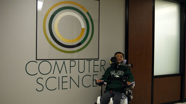 Computer science student Paul Chiou hopes to one day create more mainstream technology that offers people with disabilities the ability to excel.