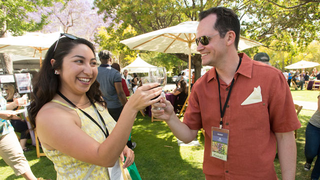 A toast during the 2016 Southern California Tasting and Auction at Cal Poly Pomona May 1, 2016.
