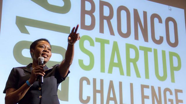The Bronco Startup Challenge featured 10 teams of aspiring entrepreneurs pitching their product ideas to judges for a chance to win prizes and donor seed money worth $10,000.