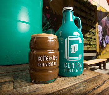 Contra Coffee, owned by Julie Nguyen and Paul Del Mundo.