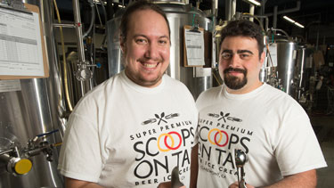 Sam Howland and Bryan Marasco have created Scoops on Tap beer ice cream.