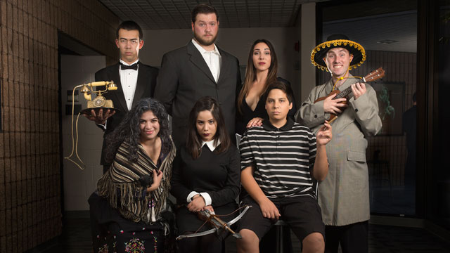 "The cast of ""The Addams Family,"" a new musical comedy, at the Music Recital Hall at Cal Poly Pomona beginning May 12."