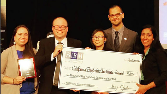 College of Business Administration students win a Society for Human Resources Management West Region competition.