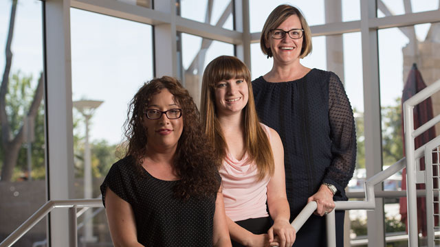 Margie Jones, Tia Breininger and Carolina Sanchez at the Collins College at Cal Poly Pomona.