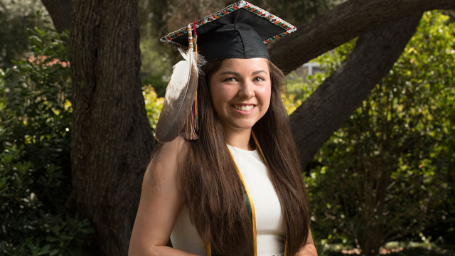 "College of Business Administration graduate Sarah De Herrera recently was selected as one of the ""25 Under 25 Native Youth Leaders."""