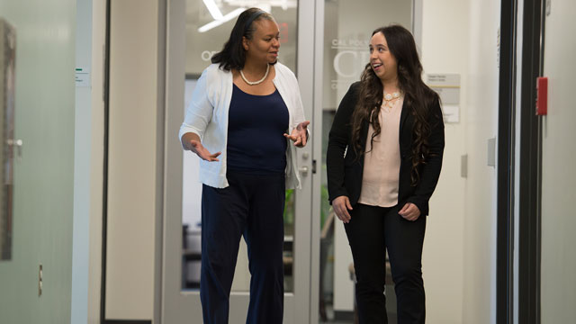 Business graduate Alyssa Hall credits College of Business Interim Dean Cheryl Wyrick with helping her find her passion for human resources.