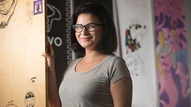 Graduating senior Kathryn Izquierdo-Gallegos found solace at Cal Poly Pomona and a passion for graphic design.