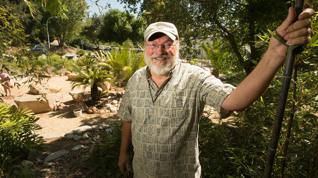 Mike Brown, curator of BioTrek, has been named Provost's Award Staff Member of the Year.