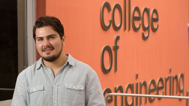 Engineering graduate Luis Valenzuela credits a meeting with Winny Dong, director of the McNair Scholars program with opening the door to his future.