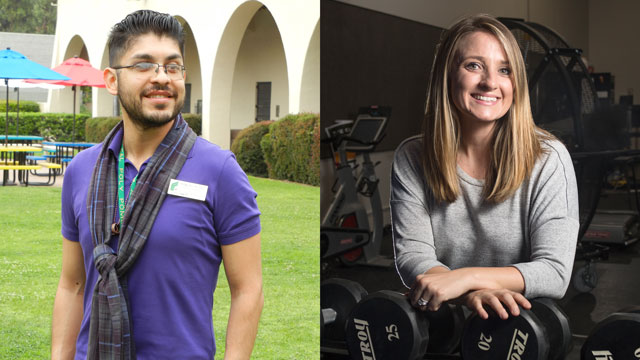 Cal Poly Pomona alumni Manuel Diaz and Alexandra Auslander are participants in the Chancellor's Doctoral Incentive Program.