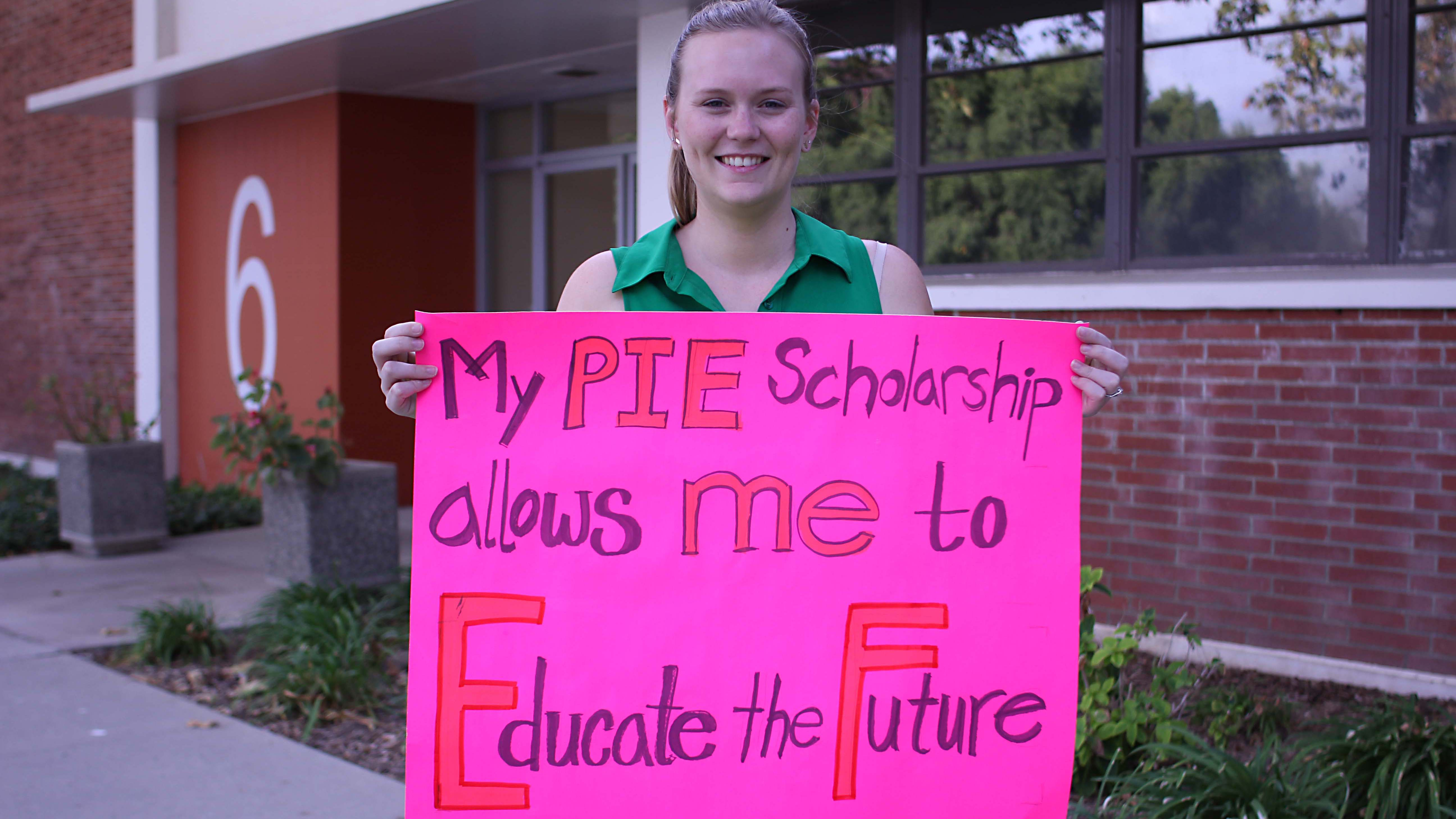 The PIE Scholarship will receive matching funds from the 36-hour Build the Future campaign.