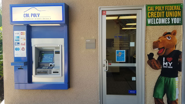 """The Cal POly Federal Credit Union recently received an industry """"Spirit Award."""" Photo Credit: Melanie Johnson"""