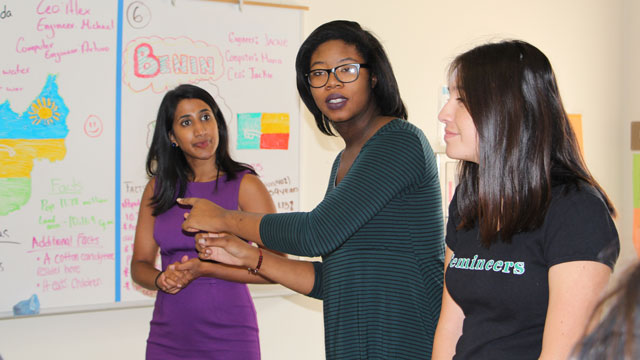 Femineer students from Fremont Academy of Engineering and Design in Pomona met recently with Sirisha Yadlapati, senior program director at the Motorola Solutions Foundation, and shared their experiences with the Wearable Electronics and Raspberry Pi programs as part of the first cohort of Femineers at Cal Poly Pomona.