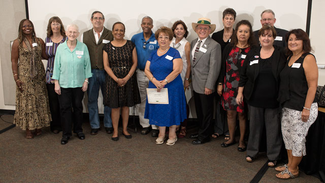 Some of the recipients of the 2016 Management and Staff Emeritus Awards