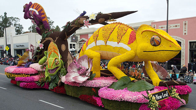 "The 2017 Cal Poly Universities' Float, ""A New Leaf"""