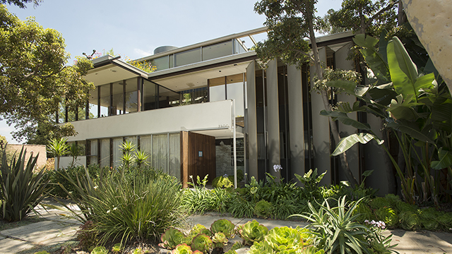 A front view of the Neutra VDL Studio and Residences, which was recently designated a National Historic Landmark.