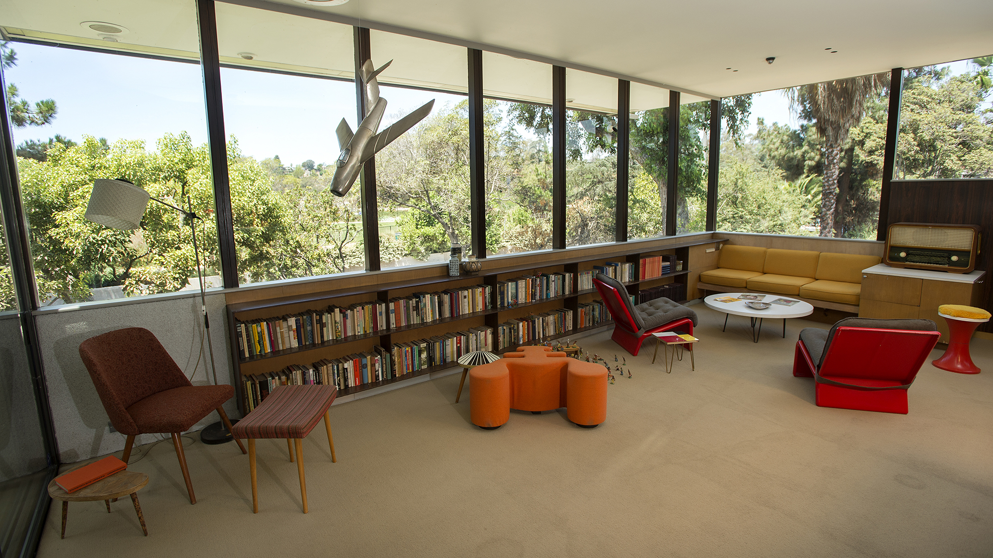 An interior view of the A front view of the Neutra VDL Studio and Residences.