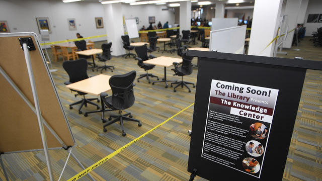 The University Library will showcase its Knowledge Center on Tuesday, Feb. 14.