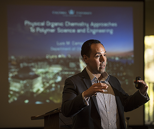 Dr. Luis Campos speaks at the 10th Annual Goldstein Distinguished Lecture at Cal Poly Pomona.