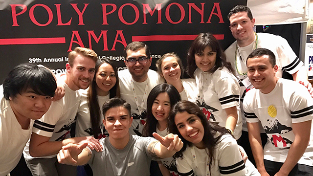 Students in the Cal Poly Pomona chapter of the American Marketing Association competed against peers from 200 colleges and universities.