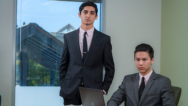 Johnathan McGowan and Kevin Li developed a product that allows students to take notes on their books and also protect the value of their texts.