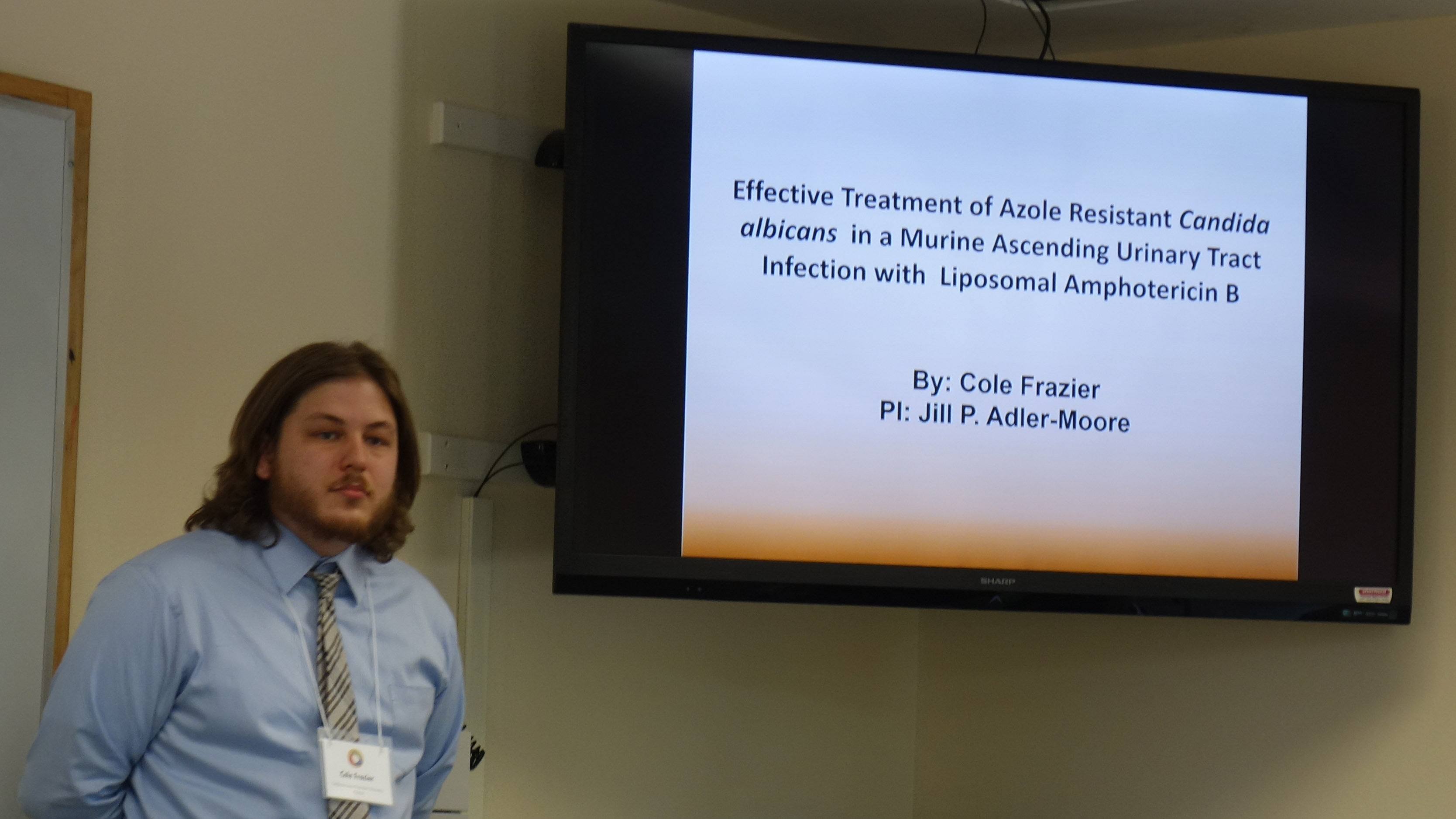 Cole Frazier earned second place in the Graduate Biological Sciences category.