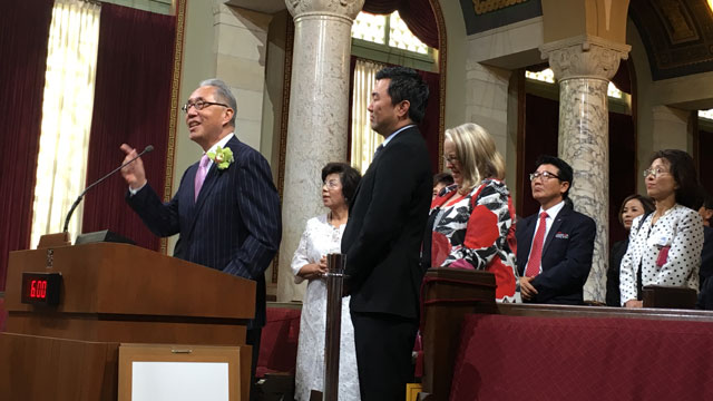 Mike Woo, dean of the College of Environmental Design, was recently honored by the city of Los Angeles for his civic leadership.