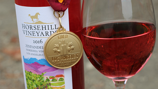 Horsehill Vineyards Wins Gold Medal at L.A. Wine Competition