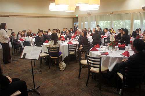 Dr. Sylvia A. Alva (Provost and Vice President for Academic Affairs) hosted a welcome banquet for the delegation.