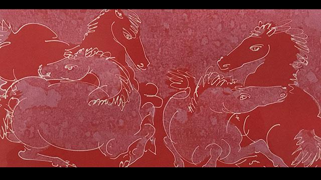 Hans Erni's Les Chevaux (four horses in motion), 1954