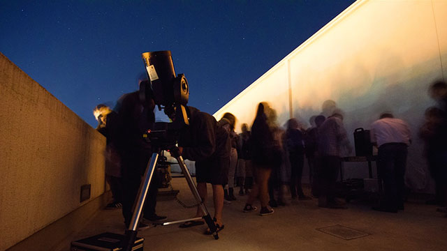 Astronomical viewing party of for the September 27, 2015 Supermoon event, which occurred when the Moon was at one of its closest approaches to Earth.