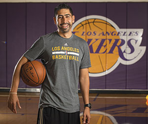 Marco Nuñez worked his way up the ranks to become the trainer for the Lakers.