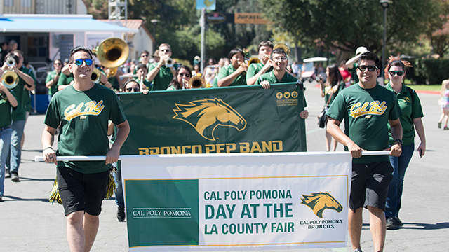 The parade during Cal Poly Pomona Day at the Fair.