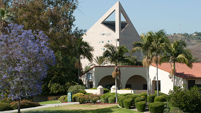 The CLA building and Union Plaza at Cal Poly Pomona.
