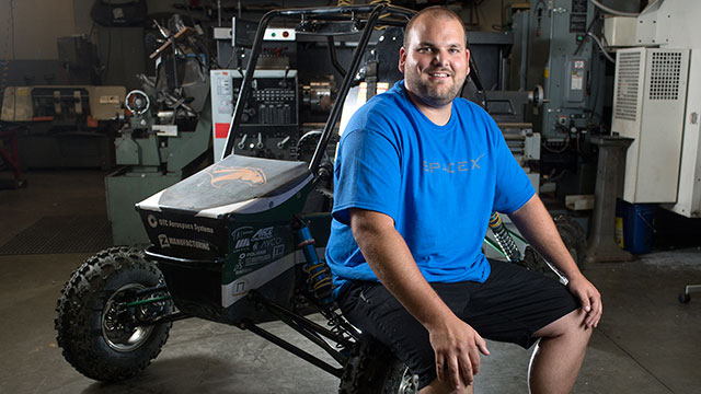 Kyle Craig worked on SAE Baja Cars for years at Cal Poly Pomona. The experience led to an internship and job at Space X.