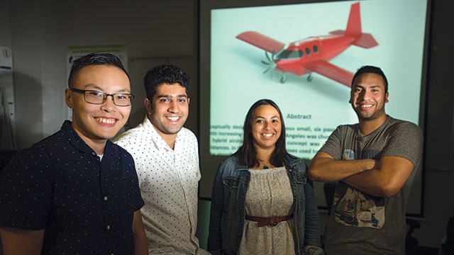 NASA Challenge Team: Michael Pham, Raghav Handa, Gabriela Lopez and Alex Callahan.